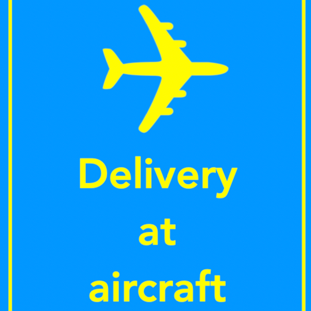 delivery at aircraft merkelapp